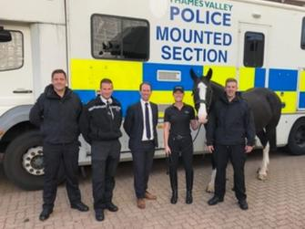 Deputy PCC meets mounted section